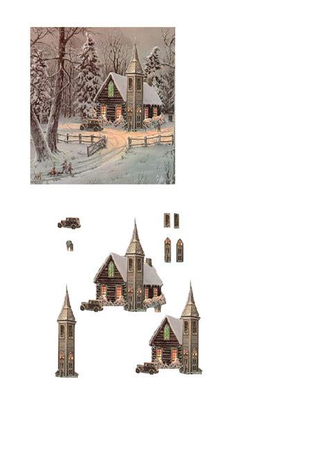 Free Craft Downloads Decoupage - church decoupage free craft downloads