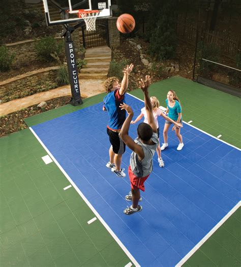 Backyard Basketball by Go Green With A Sport Court Backyard Basketball Court