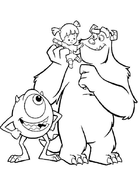 inc coloring pages monsters inc coloring pages and print monsters
