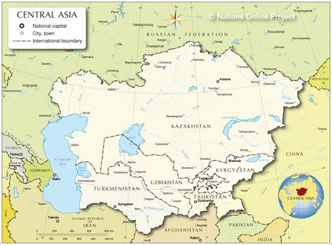 political map of central asia political map of central asia and caucasus