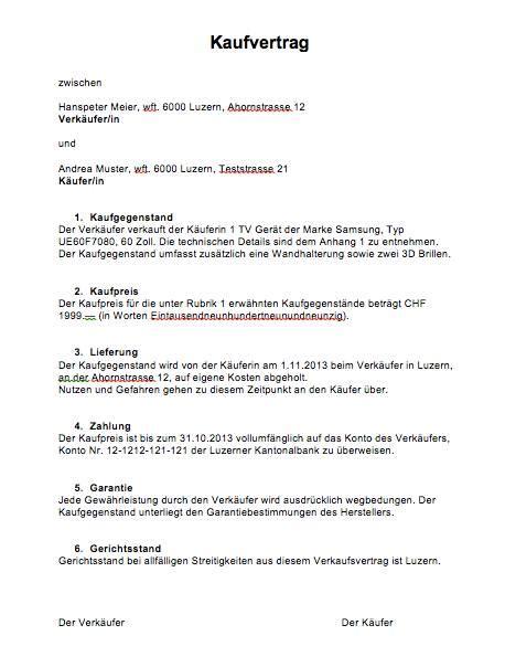 Kaufvertrag Auto Beispiel by Kaufvertrag Vorlage Schweiz Muster Vorlage Ch