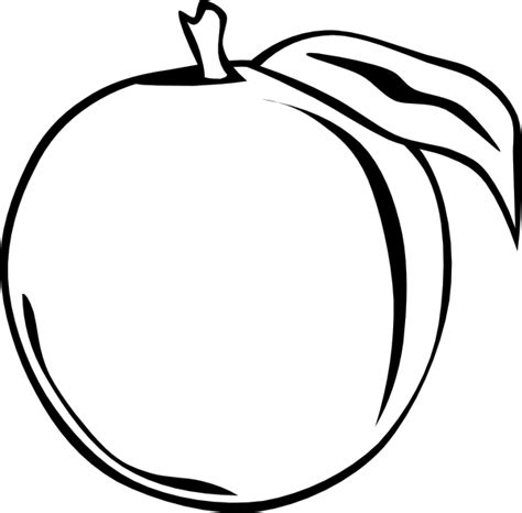 peach apple clip art at clker com vector clip art online