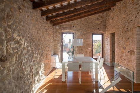 costa brava mediterranean stone house