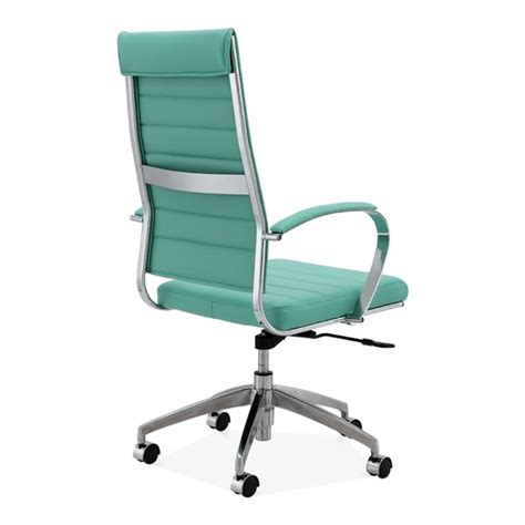cult living deluxe turquoise high back office chair cult
