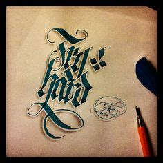 tattoo calligraphy pen faber castell pitt artist pen at work i still have some