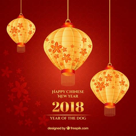 new year lantern vector new year background with shiny lanterns vector