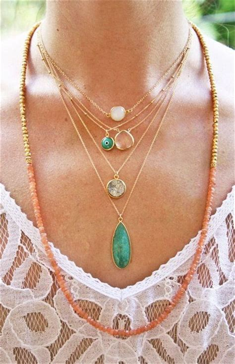 Layered Necklaces The Accessory by Layered Summer Necklaces Jewelry