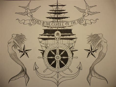 traditional navy tattoos traditional sailor style
