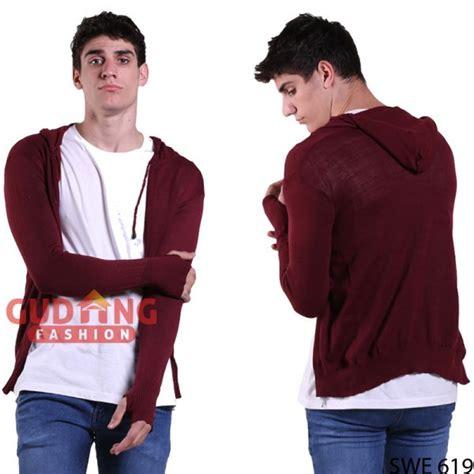 Rajut Ariel Navy sweater hoodie ariel noah rajut maroon swe 619 gudang fashion