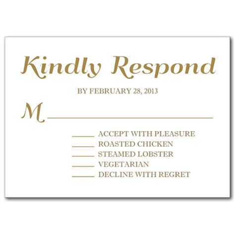 rsvp for an event card template a festive event response card