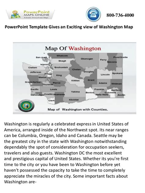 exciting powerpoint templates powerpoint template gives an exciting view of washington map