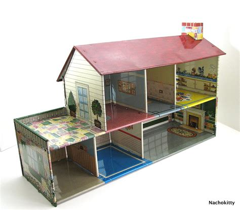 tin doll house metal doll house 28 images vintage metal doll house sixties possible marx tin