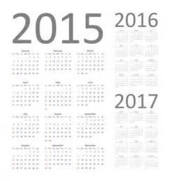 2016 Through 2017 Calendar Calendar 2015 2016 And 2017