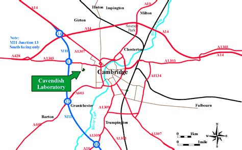 map of and surrounding areas department of physics cavendish laboratory maps