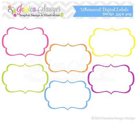 label template for pages instant whimsical labels tag by jessicasawyerdesign