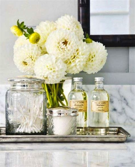 bathroom flowers vintage apothecary jars traditional bathroom this is