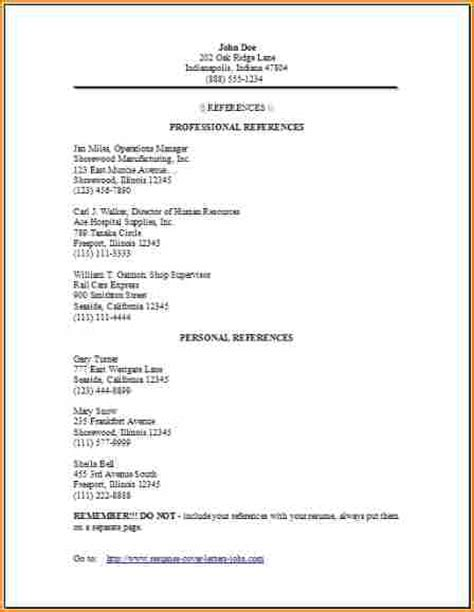exle of resume with references 11 3 professional references exles basic