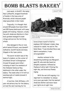 Writing A Newspaper Report Ks2 by The Blitz Newspaper Report Exle By Burton89 Teaching Resources Tes