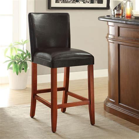 bar stools burlington deluxe black faux leather bar stool 610669538