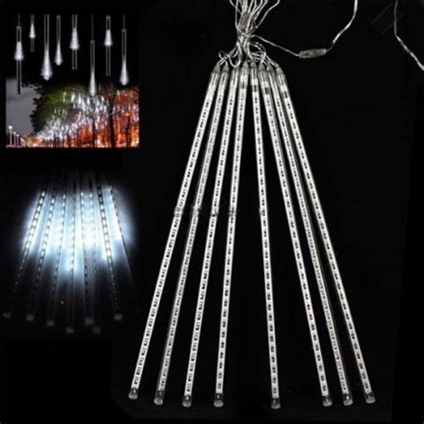 8 falling rain drop icicle snow fall string led xmas tree