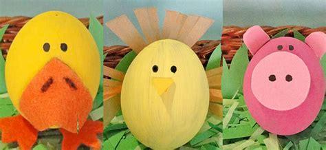 huevos decorados para la escuela manualidades infantiles para decorar huevos de pascua