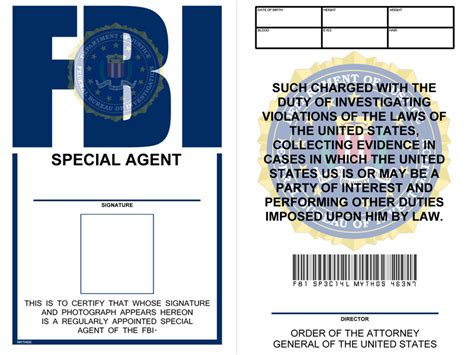 Nsa Id Card Template by Propnomicon X Files Style Fbi Badge And