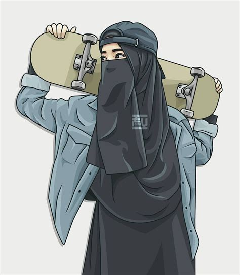 photo description    hijab cartoon
