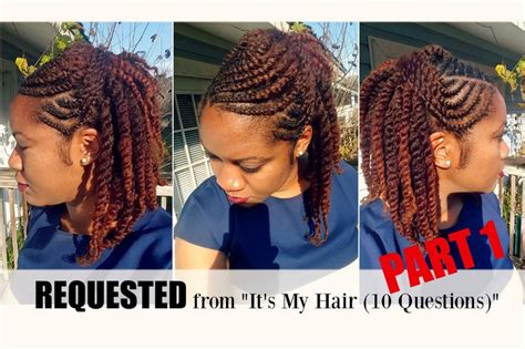 how to make a bu with nappy annie braid naturally michy flat twist hairstyle on natural hair