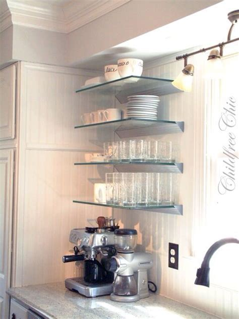 glass kitchen shelves glass shelves want kitchens