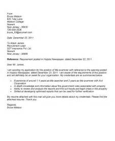 address cover letter no name cover letter title exles best letter sle