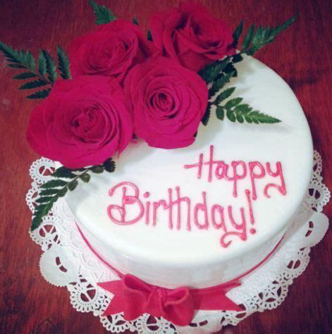 beautiful ️ happy birthday rose 🎂 flowers images, cake