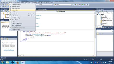 cara membuat koneksi database xp cara membuat koneksi database access ke vb net