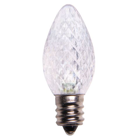 C7 Cool White Led Christmas Light Bulbs Replacement Light Bulbs