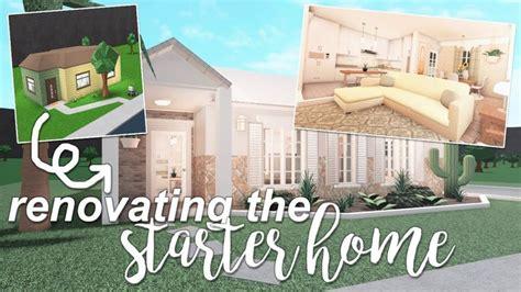 renovating  starter house roblox bloxburg youtube