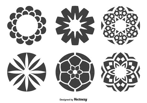 circle pattern in vector decorative circle shapes download free vector art stock