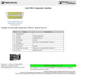audi obd ii diagnostic interface pinout diagram pinoutguide