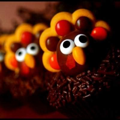 Cupcake Of The Week Gobble Gobble by Gobble Brownie Bites Thanksgiving Treats Tip Junkie