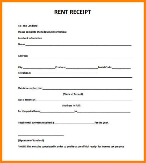 write a receipt template 4 how to write a rent receipt appeal leter