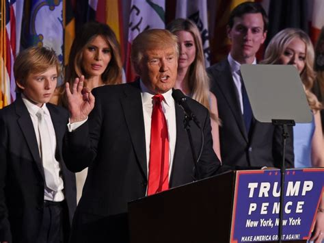 trump family photos trump at election night party it is time for america to
