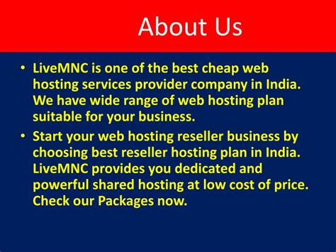 Hosting Company Indias 1 Web Hosting Services Provider In | ppt hire best virtual private cloud server at livemnc