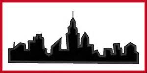 Buffalo Skyline Outline by I Ny Skyline Silhouette Digitized Applique Design For