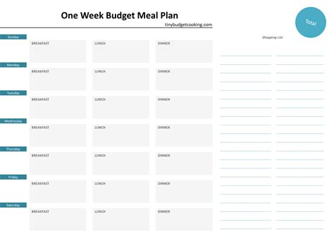 two week meal plan template a guide to budget meal planning in