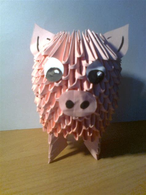 3d Origami Pig - 3d origami pig by michaelle111 on deviantart