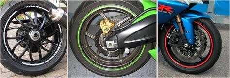 Felgenaufkleber Test by Motorrad Felgenrandaufkleber