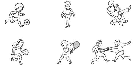 imagenes niños haciendo deporte para colorear deportes dibujos para colorear e imprimir