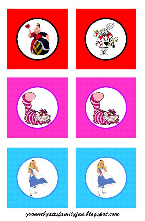 printable pictures alice in wonderland alice in wonderland party printables free