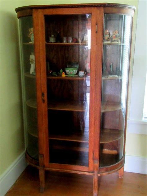 replacement curved glass for curio antique curio cabinets for sale antique furniture