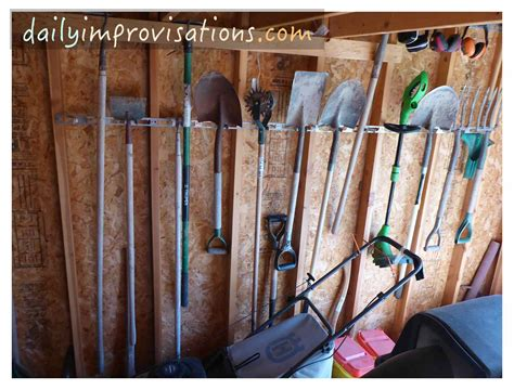 how to hang tools in shed the great low tech one day garden shed reorganization or the scream method