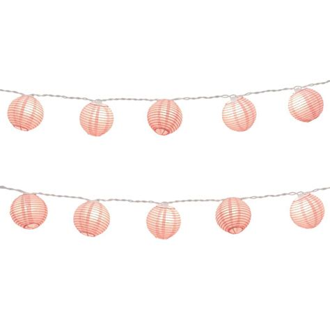 Paper Lantern String Lights in Fuchsia 76101   The Home Depot