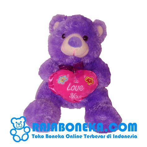 jual boneka beruang kecil ungu murah